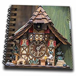 3dRose db_188521_3 Traditional Cuckoo Clock For Sale, Rothenburg, Germany Mini Notepad, 4 x 4