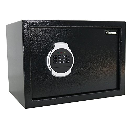 Sunnydaze Steel Digital Home Security Safe with Removable Shelf and Programmable Lock, 0.81 Cubic Feet