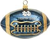 NCAA Notre Dame Fighting Irish Football Blown Glass Ornament