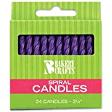 Oasis Supply Spiral Birthday Candles, 2.25-Inch, Purple