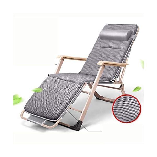 MXueei Regolabile Poltrona Chaise, con poggiatesta Sedia gravità bracciolo reclinabile Lounger Zero Nap Bed Sedia… 7 spesavip