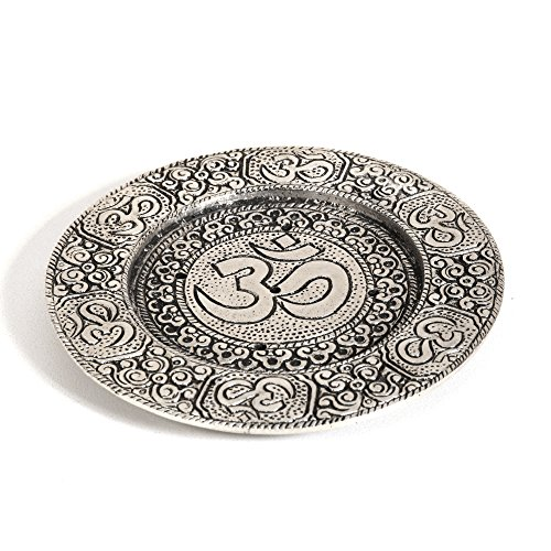 Hosley Round Aluminum Incense Burner/Holder Sticks, 4.5