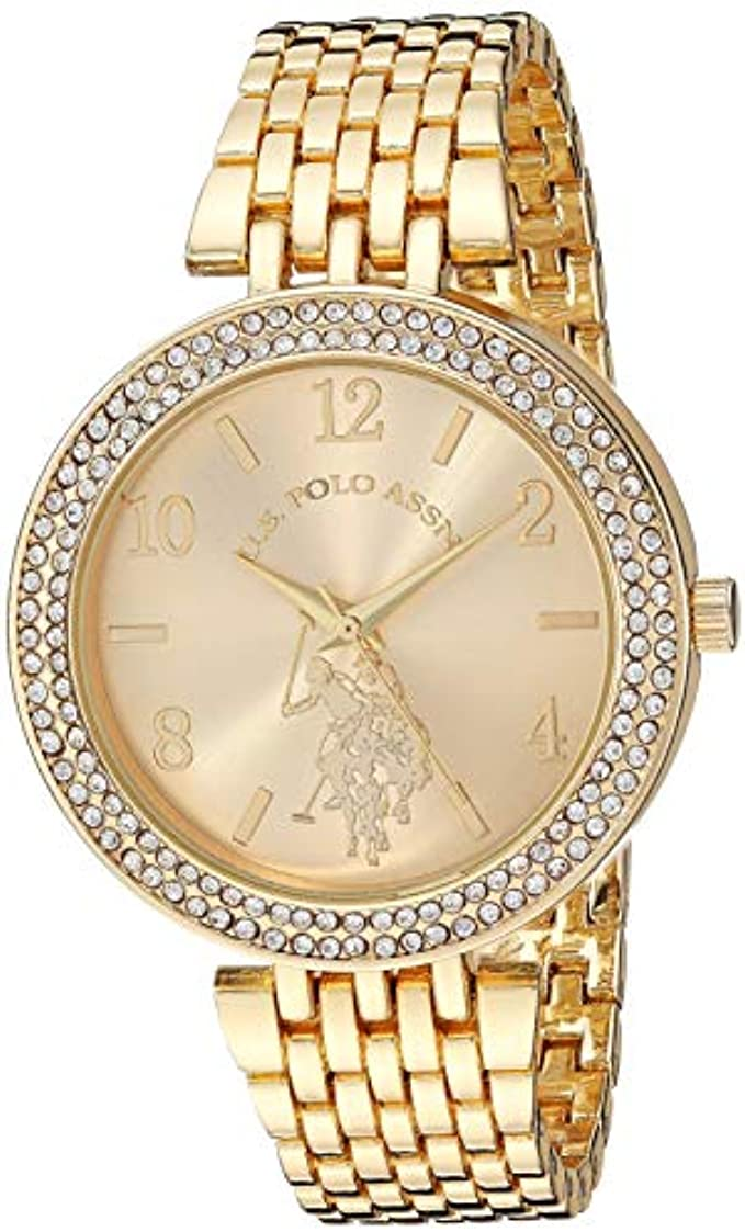U.S. Polo Assn. Women's Stainless Steel Quartz Watch with Alloy Strap, Silver, 18.6 (Model: USC40216)