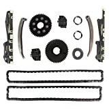 MOTORMAN Timing Chain Kit for 1996-2001 Ford 1996-2000 Lincoln Town Car 1996-1997 Mercury Cougar 1996-1999 Grand Marquis 4.6L V8 Includes Replacement Chains, Gears, Guides, and Tensioners - 11 pc