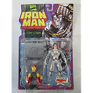 1995 Toy Biz Marvel Comics Iron Man Tony Stark with Armor Carrying Suitcase