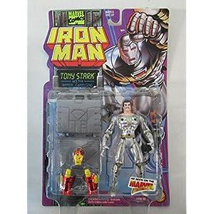 1995 Toy Biz Marvel Comics Iron Man Tony Stark with Armor Carrying Suitcase