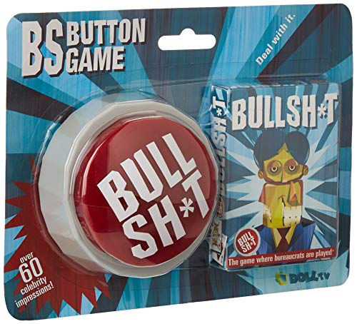 (BS Button Game (60 Hilarious Phrases Plus Bullshit Playing Cards))