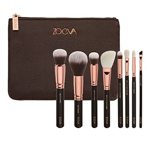 ZOEVA Brushes Makeup Cosmetics Brush Tool Rose Golden Luxury Set Bag Complete Eye Set 8 Pennelli Face Eye Brushes Blending Makeup Brushes set Complete Eye