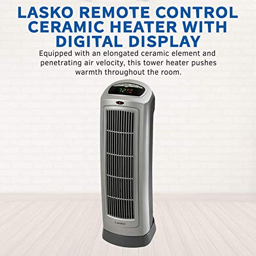 Lasko Ceramic Tower Space Heater with Remote Control