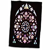 3D Rose Window Photo from Prague - St Vitus Cathedral - Church Colorful Stain Glass Multicolor Towel, 15'' x 22''