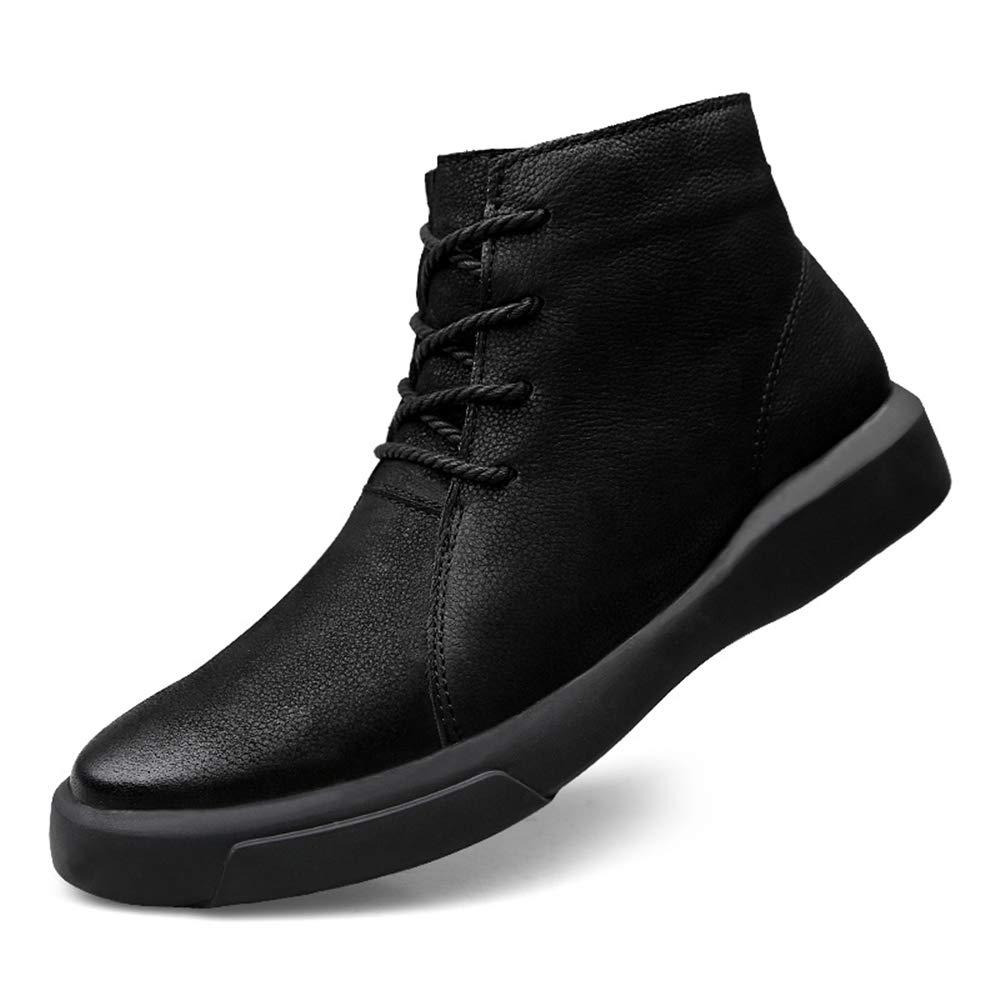 HILOTU Botas de Nieve de Senderismo para Hombre Zapatos Impermeables de Invierno Zapatos con Cordones Antideslizantes para Atar Al Aire Libre con Forro de ...