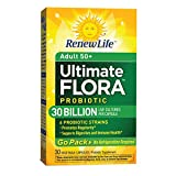 Renew Life Adult 50+ Probiotic, Ultimate Flora, 30 Billion, 30 Capsules, Go Pack