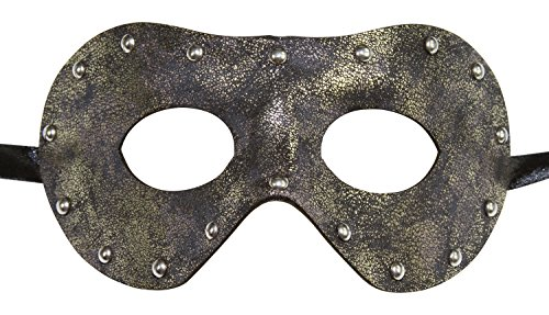 KAYSO INC Men's Leather Masquerade Mask (Rustic (Venetian Pirate Mask)