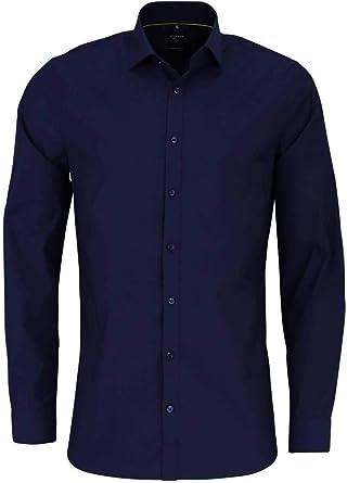 OLYMP No. Six - Camisa de Manga Larga, Color Azul