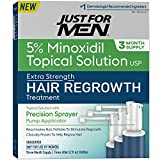 Just for Men Minoxidil Extra Strength Hair Loss Regrowth Treatment with Precision Sprayer, 6 Ounces (3 Month Supply)