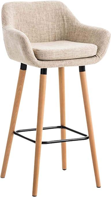 Tabouret de Bar Grant Tissu Design Scandinave I Tabouret de Bar Industriel avec Dossier et Accoudoirs I Chaise de Bar Confortable Ergonomiqu,