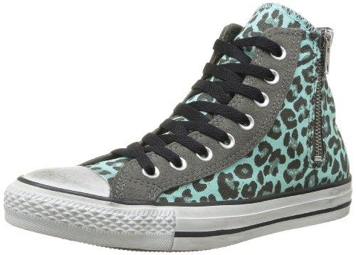 Star Hi Spots Side Converse Canvas Distresse Erwachsene Charcoal Ocean Zip All Unisex Sneaker Twpq55Wa