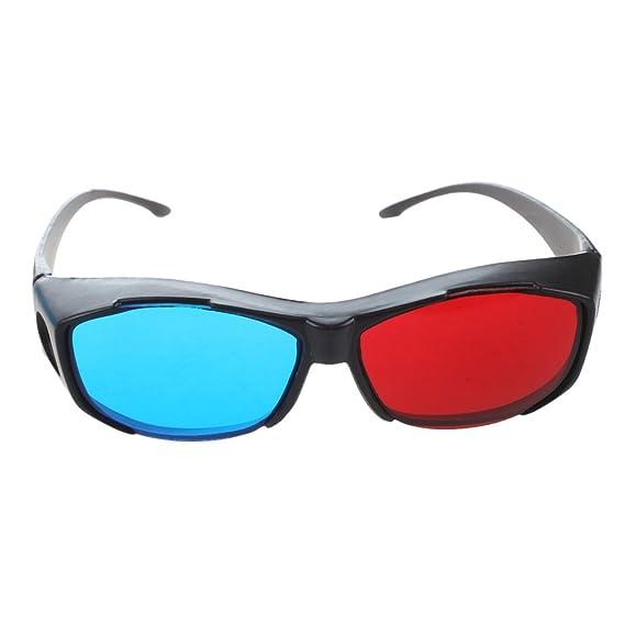 96a41f9fd9600 SODIAL (R ) Rouge Bleu Cyan NVIDIA 3D Lunettes Glasses Vision Anaglyphe  Pour Camera Film ...
