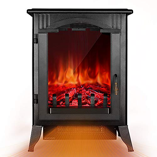 Fireplace Space Heater - 1500W / 750W Infrared Electric Fireplace Heater with 3D Flame Effect