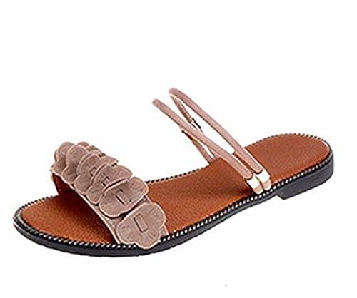 TGKHUS Sandalias Dama Peep Zapatos Plano Zapatillas Sin Zapatos del Talón: Amazon.es: Zapatos y complementos