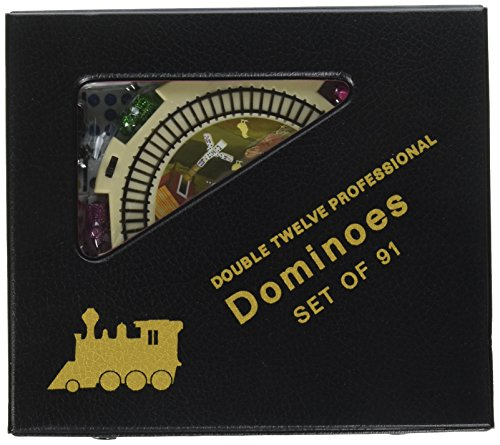 Double 12 Mexican Train - New Double 12 Mexican Train Dominoes Set with Dots