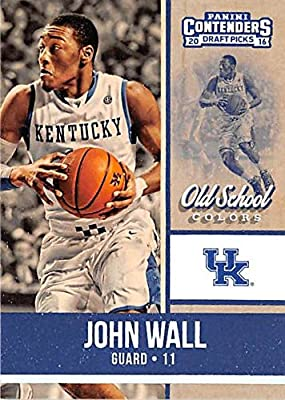 John Wall basketball card (University of Kentucky Wildcats) 2016 Contenders Draft Picks #10 Old School Colors