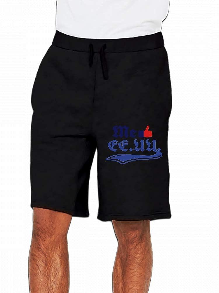 JiJingHeWang Me Gusta Ee.Uu Mens Casual Shorts Pants