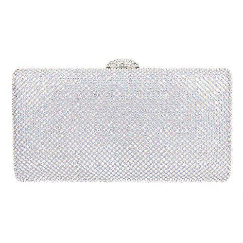 Fawziya Envelope Clutch Oversized Bag Clutch Evening Purses And Clutches-ABSilver