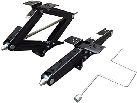 Set of 2 5000 lb 24 RV Trailer Stabilizer Leveling Scissor Jacks w// handle