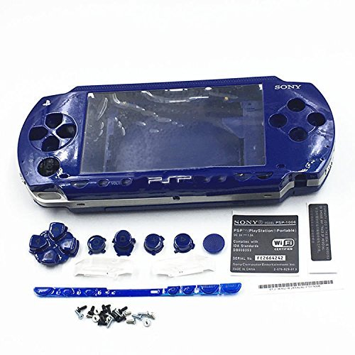 Housing Case Shell With Buttons Screwdrivers For Sony PSP 1000 1001 - Blue (Psp 1000 Screwdriver)