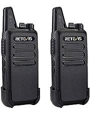 Retevis RT22 2 Way Radio Walkie Talkies 16 Channels CTCSS/DCS TOT VOX Scan Squelch 2 Way Radio(2 Pack,Black)