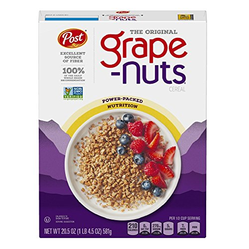 - Post Grape-Nuts The Original Non-GMO Cereal 20.5 Ounce Box