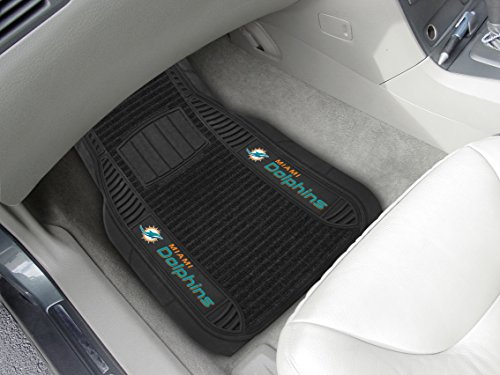 Buy fan mats miami dolphins nfl car floor mats 2 front
