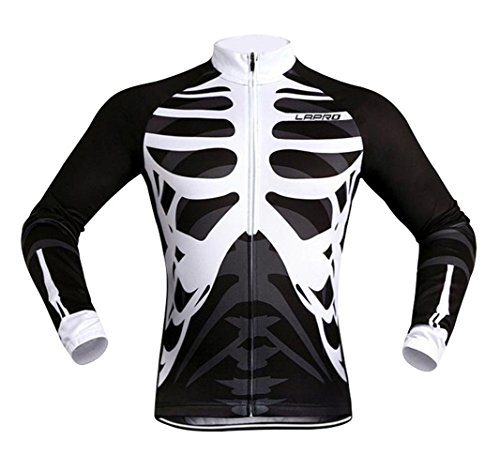 Men's Cycling Long Sleeve Zip Fleece Lined With 4D-Padded Breathable Warm Quick Dry Jersey Cloth Winter Set (Colombia National Costume For Men)