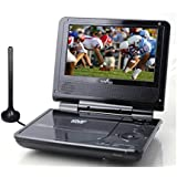 "Envizen Digital ED8850B Duo Box II 7"" Portable DVD & TV Player with ATSC TV"