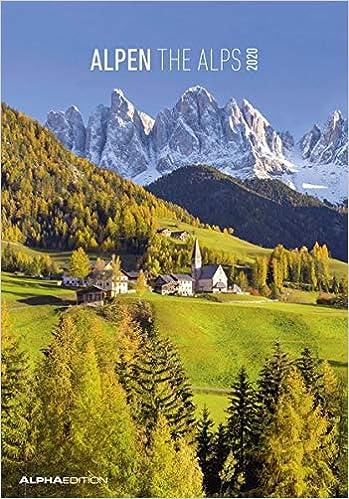 "Calendario da muro /""Alpi/"" 2020 23.7 x 34 cm"