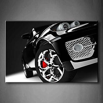 Schwarz Cara Modern Und Elegant Schwarz Auto Beleuchtet Wand Kunst