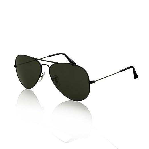 Amazon.com  SWG Aviator Sunglasses - Matte Black   Smokey Lens Sport ... fd6a4fc5807