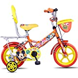 Hero Disney 12T Mickey Junior Cycle With Carrier  8-inches (Orange)