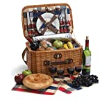 Rustica 4 Person Picnic Basket - Complete set with insulated cooler