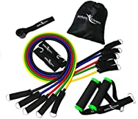 Resistance Bands Set von BeMaxx Fitness + Bonus Trainingsguide - 5...