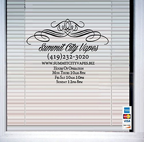 Business Name/Number ''Custom'' 17'' x 22'' ~ WALL or Window DECAL by Best Priced Decals: WALL DECALS