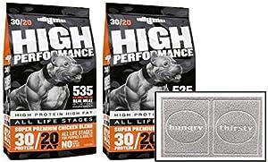 Bully Max High Performance Super Premium Dog Food (30lb Grey Bundle)