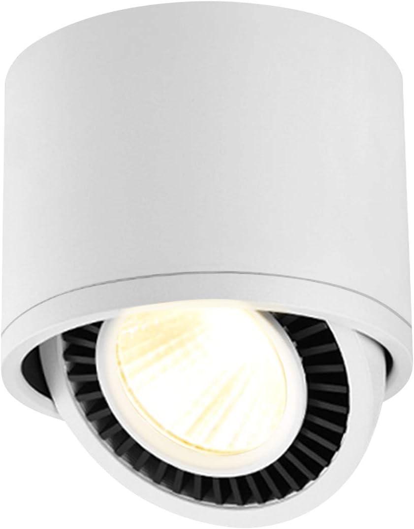 Budbuddy 15W LED Aufbauleuchte Schwenkbar Spotleuchte Spotbalken Schwarz Aufbaustrahler Deckenlampe f/ür K/üche Badezimmer Flur wohnzimmer 4000K Aluminium