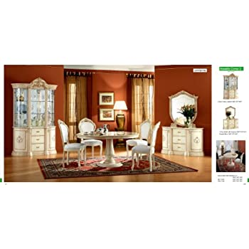 this item esf rossella 5 pieces traditional ivory finish classic italian dining room set comp 2 - Dining Room Items