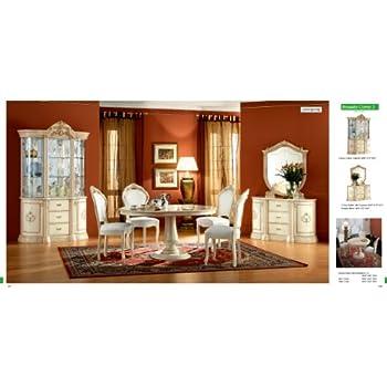 Amazon.com - ESF Leonardo 7 Pieces Traditional Ivory Finish ...