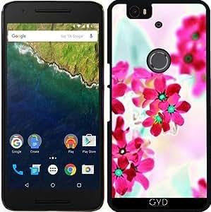 Funda para Google Nexus 6P (Huawei) - Flores De Color Rosa Ii by LoRo-Design