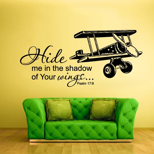 Wall Vinyl Sticker Decals Decor Art Bedroom Design Mural Words Sign Quote Wings Airplane Aircraft (Z937) (Fdc Airplanes)
