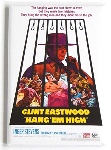 Hang 'Em High Movie Poster Fridge Magnet (2 x 3 inches)