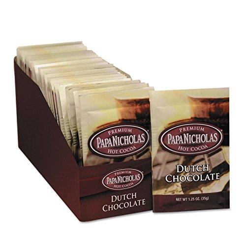- PapaNicholas Coffee 79224 Premium Hot Cocoa, Dutch Chocolate, 24/Carton